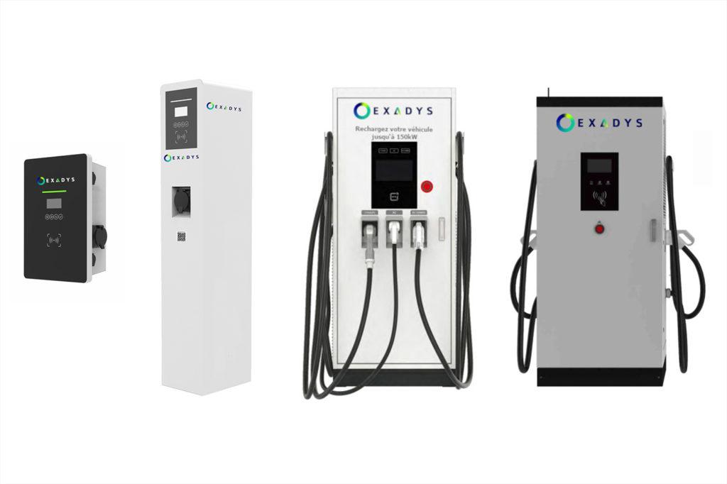borne de recharge électrique voiture électrique exadys